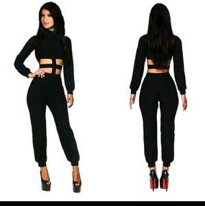 Pants - NWOT Black cut out jumpsuit